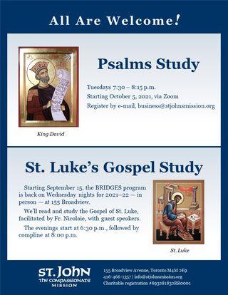 2021-22 Bible studies